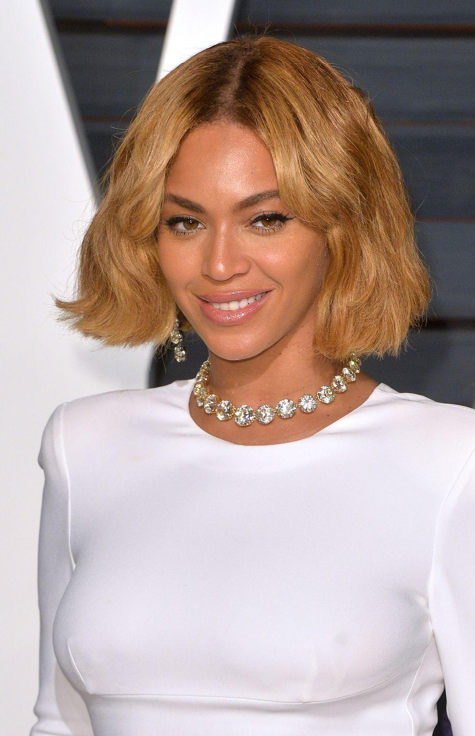 <p>Add texture to your bob by slightly teasing chunks of hair, mimicking the effortlessly chic look <strong>Beyoncé</strong> showed off.</p>