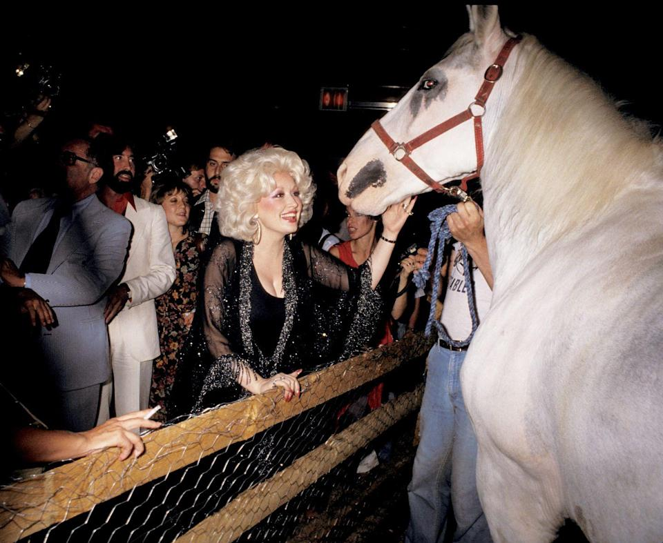 <p>In 1978, Parton celebrated at her own concert's after party at New York's famed Studio 54. Galella captured a variety of celebrities at the club during its heyday. <br></p>