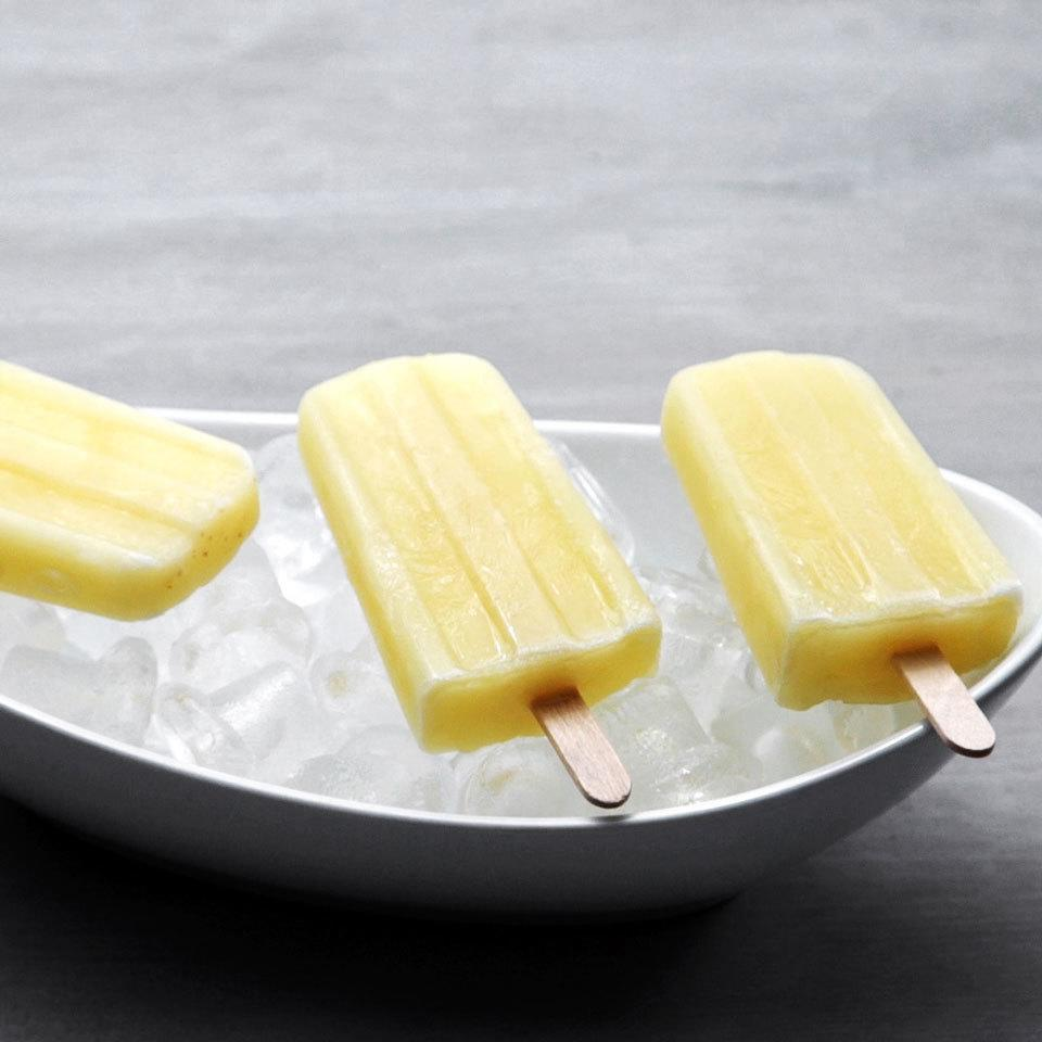 "<p>The tropical flavors of a piña colada make for one delicious ice pop. Be sure to reach for ripe bananas to get the perfect sweetness (without any added sugar!) for this clean-eating-friendly frozen treat. <a href=""http://www.eatingwell.com/recipe/258196/virgin-banana-pina-colada-pops/"" rel=""nofollow noopener"" target=""_blank"" data-ylk=""slk:View recipe"" class=""link rapid-noclick-resp""> View recipe </a></p>"