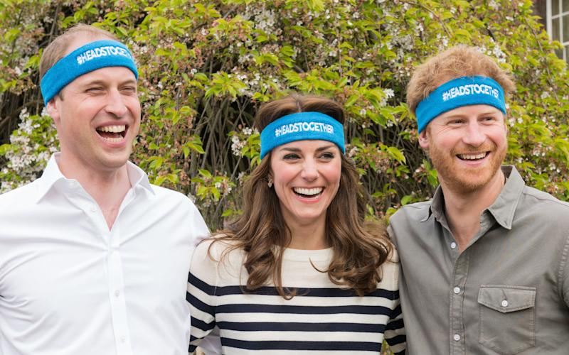 The Duke and Duchess of Cambridge and Prince Harry are spearheading a new campaign called Heads Together on mental health - 2016 Getty Images