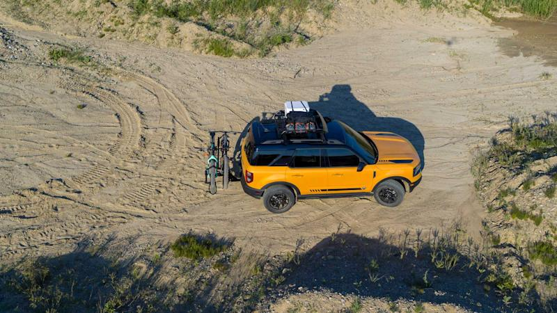 2021 Ford Bronco Sport from above off-road