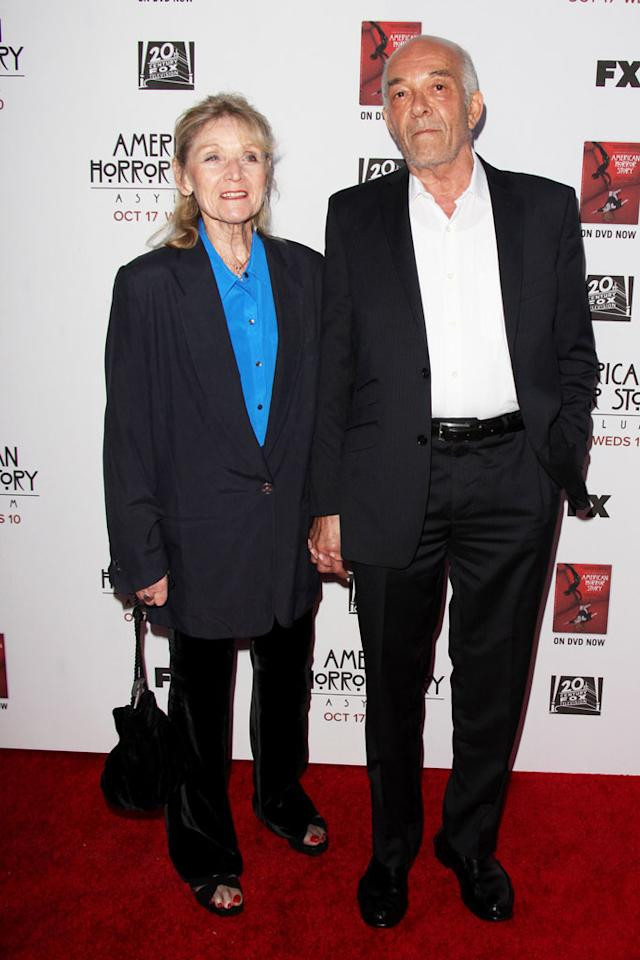 """Mark Margolis and guest attend the """"American Horror Story: Asylum"""" premiere held at Paramount Studios on October 13, 2012 in Hollywood, California."""