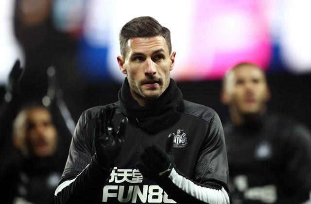 Fabian Schar returned to the Newcastle side at Manchester City