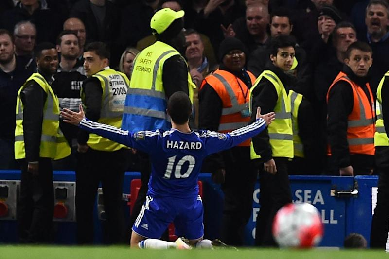 Battle of the Bridge: Hazard equaliser as Chelsea fought back from 2-0 down against Spurs to hand Leicester the title