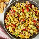 "<p>We love a good <a href=""https://www.delish.com/uk/cooking/a32570797/easy-homemade-salsa-recipe/"" rel=""nofollow noopener"" target=""_blank"" data-ylk=""slk:Homemade Salsa"" class=""link rapid-noclick-resp"">Homemade Salsa</a> in the summer. This one is especially good when sweet summer corn is in season. If you don't have a grill or grill pan, give your cobs a quick sear in a cast iron pan to get that smoky, charred flavour. You can also use frozen corn, (they even sell it pre-charred!) just make sure it's fully defrosted and drained of excess moisture before you make your salsa. </p><p>Get the <a href=""https://www.delish.com/uk/cooking/recipes/a35346040/best-corn-salsa-recipe/"" rel=""nofollow noopener"" target=""_blank"" data-ylk=""slk:Grilled Corn Salsa"" class=""link rapid-noclick-resp"">Grilled Corn Salsa</a> recipe.</p>"