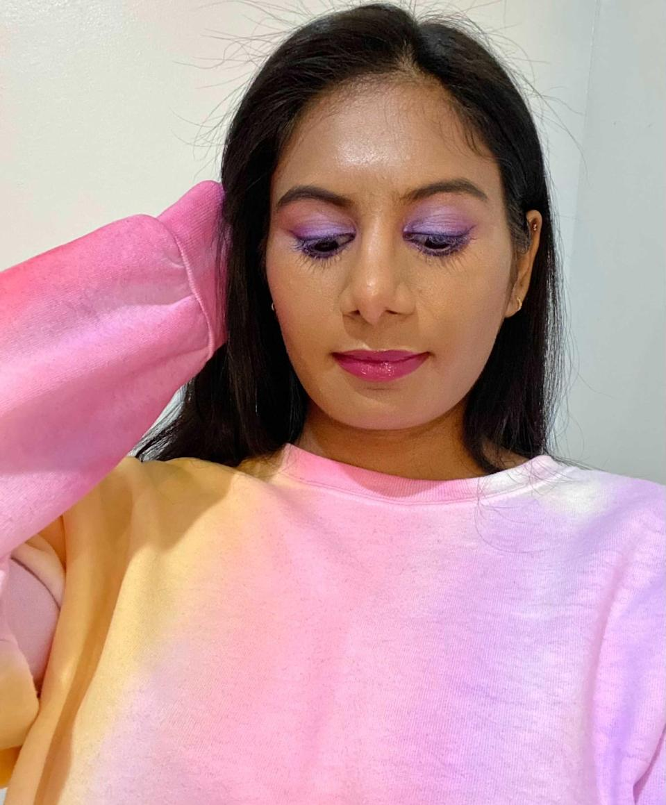 <p>It's purple's time to shine! Lavender lids are a perfect way to brighten up your 2021! I recommend the <span>Urban Decay Naked Ultraviolet Eyeshadow Palette</span> ($49), the <span>HUDA BEAUTY Pastel Obsessions Eyeshadow Palette in Lilac Obsessions</span> ($29), and <span>Juvia's Place The Violets Eyeshadow Palette</span> ($14). I lined my eyes with the <span>Urban Decay 24/7 Glide-On Eye Pencil</span> ($22)</p>