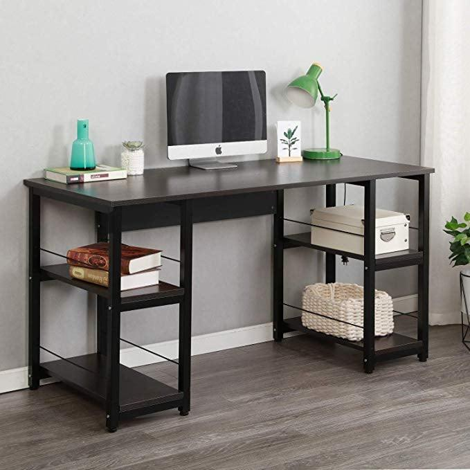 <p>The extra storage space on this <span>Soges Home Office Desk</span> ($120) is so useful and can hold all your necessities.</p>