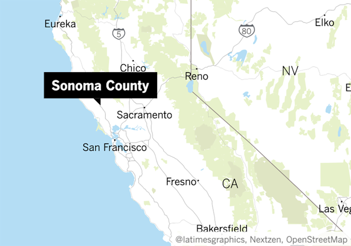 "Sonoma County remains in the most restrictive purple tier of the state's reopening criteria. <span class=""copyright"">(Los Angeles Times)</span>"