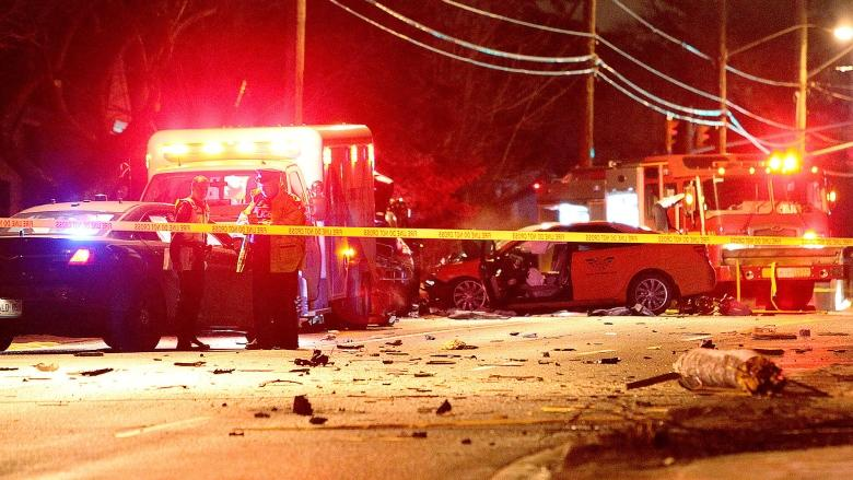 Taxi driver dead after cab struck by car in York Mills