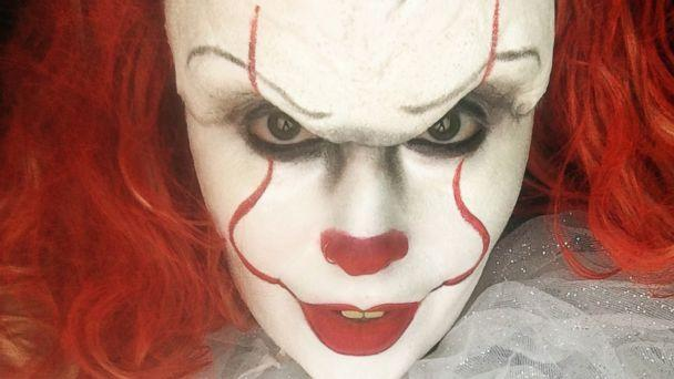 PHOTO: Makeup artist Sabrina Ozuna of California shares her Halloween makeup design on Instagram for Pennywise the clown from the 2017 horror film, 'It.' (SabrinaOzuna/Instagram)
