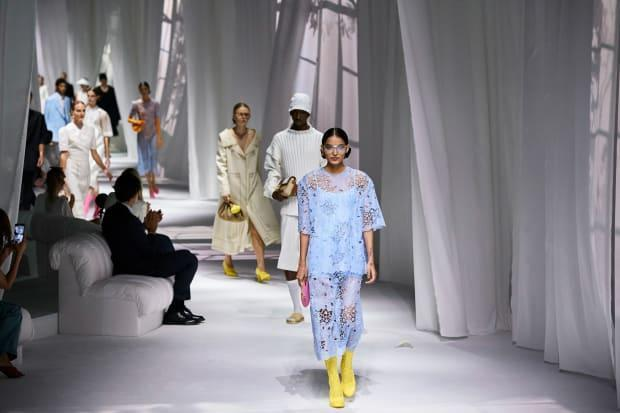 Looks from the Fendi Spring 2021 collection.