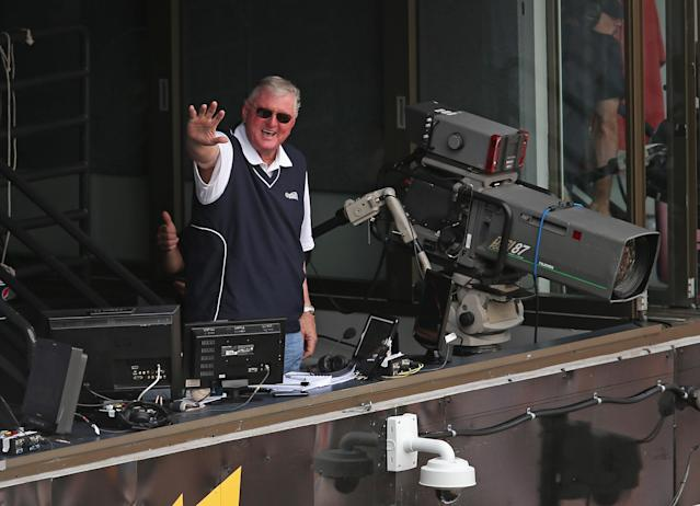Hawk Harrelson continues to hate on Wrigley Field. (Photo by Jonathan Daniel/Getty Images)