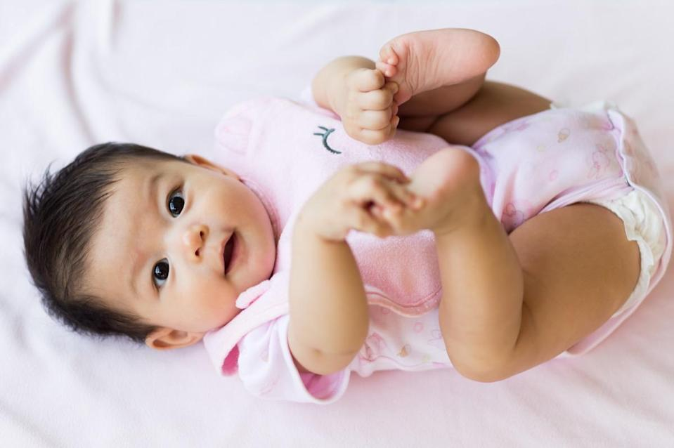 """You'd think that our kneecaps would be a necessary part of the human body. Not for babies, <a href=""""https://www.rchsd.org/health-safety/growing-up-columns/bones-develop-in-distinctive-ways-depending-on-gender/"""" rel=""""nofollow noopener"""" target=""""_blank"""" data-ylk=""""slk:who aren't born with them"""" class=""""link rapid-noclick-resp"""">who aren't born with them</a>. Instead, their cartilage gradually turns into bone, as ossification begins between the ages of two and six years—and doesn't fully finish until young adulthood."""