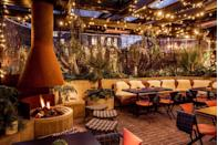 <p>The London hotel, which opened in 2019, is now home to a winter terrace where you can find a fire pit, festoon lighting and sheepskin furs. Cosy yet chic. <br> </p>