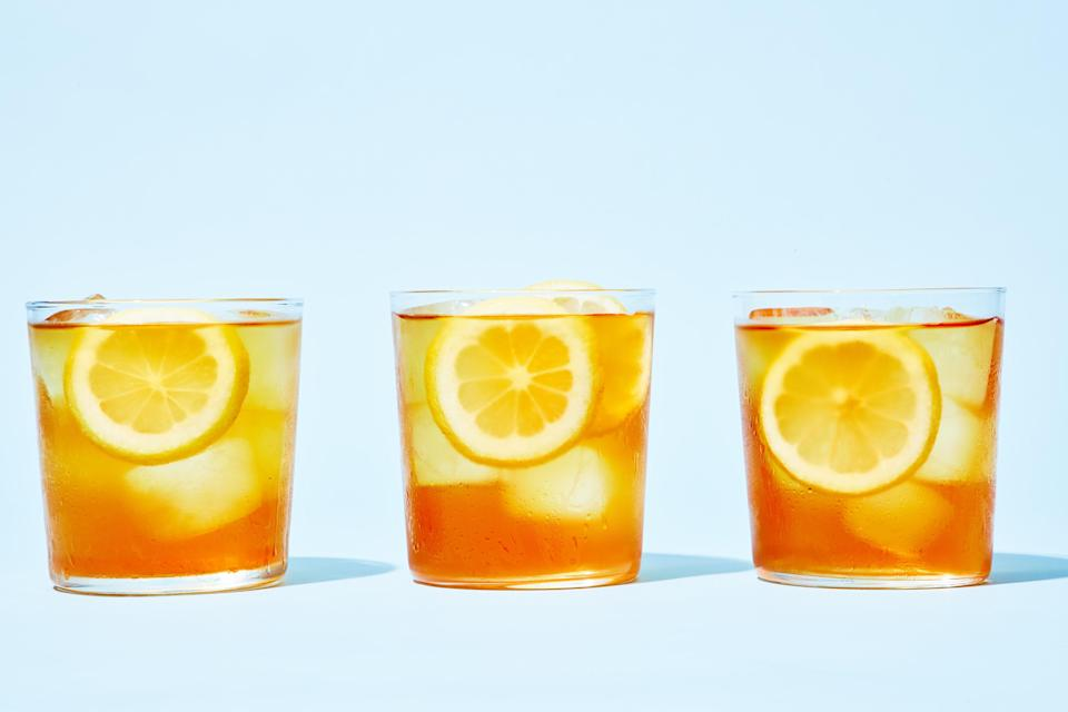 """Cold-brewed tea has fresh, clear flavors, no sun required. (To be honest, we like it better than <a href=""""https://www.epicurious.com/expert-advice/how-to-make-iced-coffee-best-way-shake-article?mbid=synd_yahoo_rss"""" rel=""""nofollow noopener"""" target=""""_blank"""" data-ylk=""""slk:cold-brewed coffee"""" class=""""link rapid-noclick-resp"""">cold-brewed coffee</a>.) <a href=""""https://www.epicurious.com/recipes/food/views/cold-brew-iced-tea-51169020?mbid=synd_yahoo_rss"""" rel=""""nofollow noopener"""" target=""""_blank"""" data-ylk=""""slk:See recipe."""" class=""""link rapid-noclick-resp"""">See recipe.</a>"""