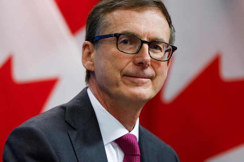 Bank of Canada Governor Tiff Macklem takes part in a news conference in Ottawa