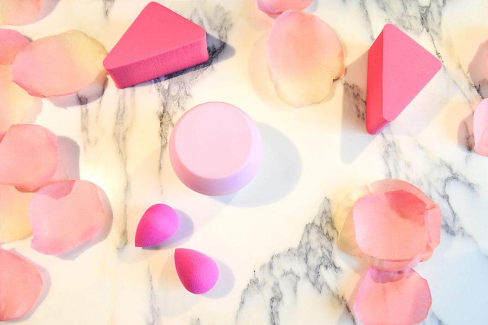 Makeup Sponges on Marble Countertop