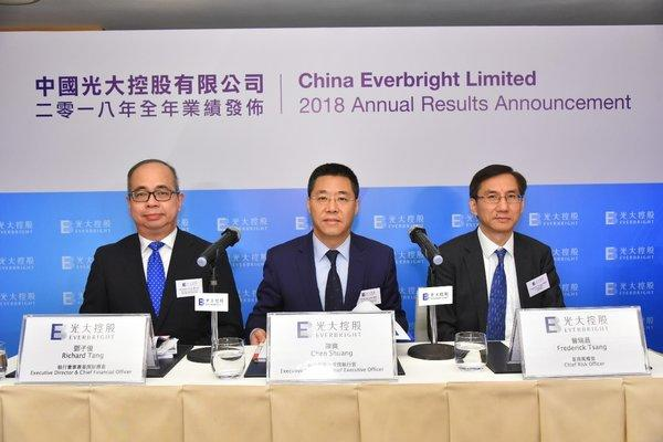 From the left: Richard Tang, Executive Director & CFO; Chen Shuang, Executive Director & CEO; and Frederick Tsang, Chief Risk Officer