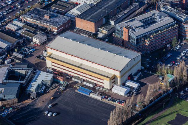 Aerial view of the sound stage used for Strictly Come Dancing on the lot at Elstree Studios in Borehamwood (Photo: High Level/Shutterstock)