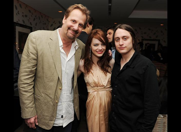 "After meeting on the set of 2009's ""Paper Man,"" Stone and Culkin were <a href=""http://articles.nydailynews.com/2010-04-07/gossip/27061116_1_emma-stone-kieran-culkin-stars"" rel=""nofollow noopener"" target=""_blank"" data-ylk=""slk:rumored to be dating"" class=""link rapid-noclick-resp"">rumored to be dating</a>. Stone is now currently dating ""The Amazing Spider-Man"" co-star Andrew Garfield."
