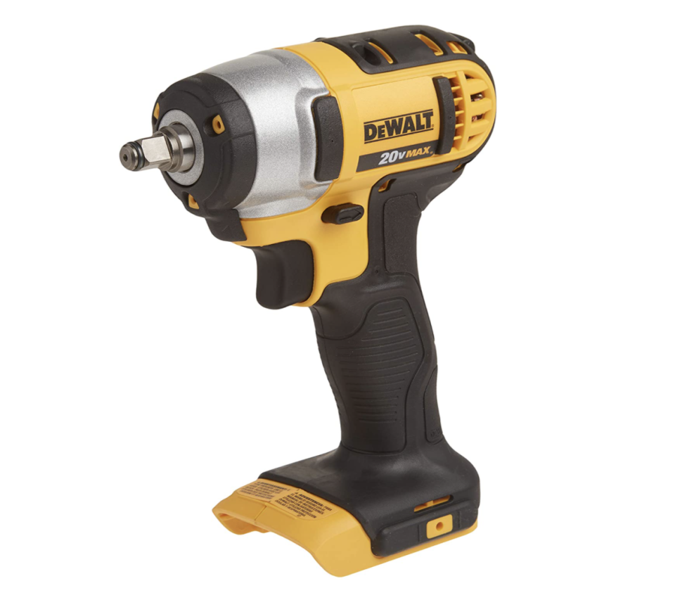 black, yellow, and steel DEWALT DCF883B 20-volt Max Lithium Ion 3/8-Inch Impact Wrench