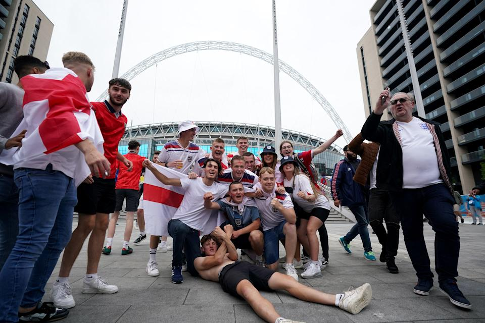 Fans at Wembley (PA Wire)