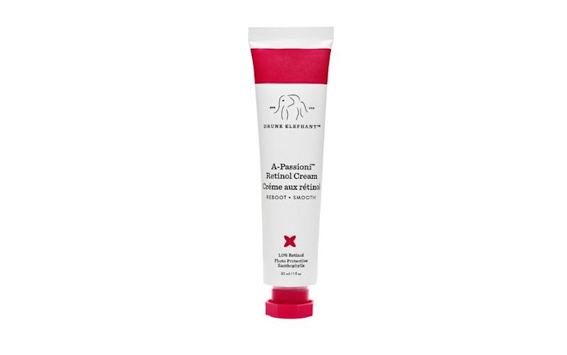 "Calling retinol ""liquid gold,"" <a href=""https://www.njdermcenter.com/dr-husain/"">Zain Husain</a>, a board-certified dermatologist and the founder of New Jersey Dermatology and Aesthetics Center, recommends Drunk Elephant A-Passioni Retinol Cream. &ldquo;These products work by increasing skin cell turnover, boost collagen production and help keep the skin looking youthful by diminishing fine lines and wrinkles. It also helps combat acne and uneven skin tone and hyperpigmentation,&rdquo; Husain said. &lt;br&gt;&lt;br&gt;<strong>Find it for $74 on </strong><a href=""https://www.sephora.com/product/a-passioni-retinol-cream-P439926""><strong>Sephora</strong></a><strong>.</strong>"