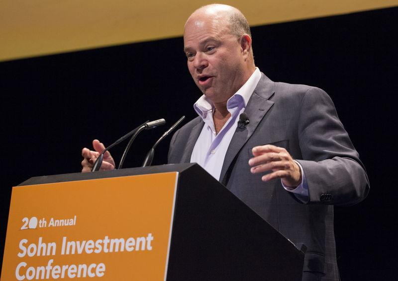 David Tepper, founder of Apploosa Management, speaks during the Sohn Investment Conference in New York