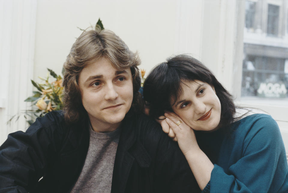 British fashion designers David and Elizabeth Emanuel at their Mayfair salon, London, 11th March 1981. They have been selected to design the wedding dress for Lady Diana Spencer, later Diana, Princess of Wales. (Photo by Keystone/Hulton Archive/Getty Images)