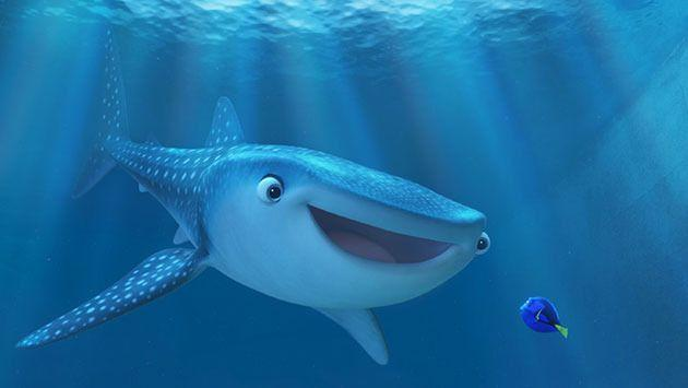 The new trailer introduces us to Dory's childhood friend, a whale shark called Destiny. Photo: Walt Disney Studios