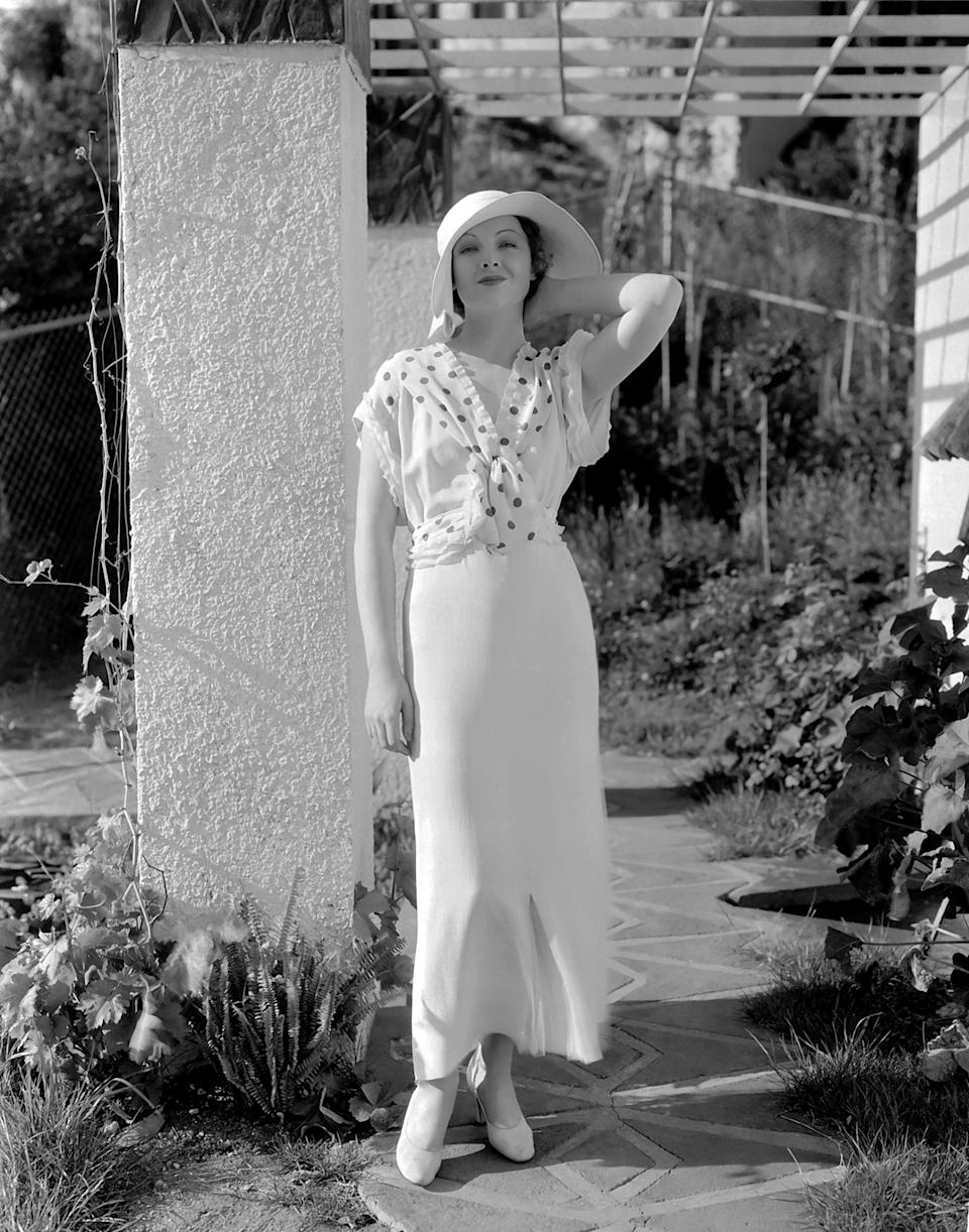"""Actress Myrna Loy in a scene from the 1933 movie """"When Ladies Meet."""""""