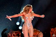 <p>JLo then changed into a jewel-encrusted bodysuit.</p>