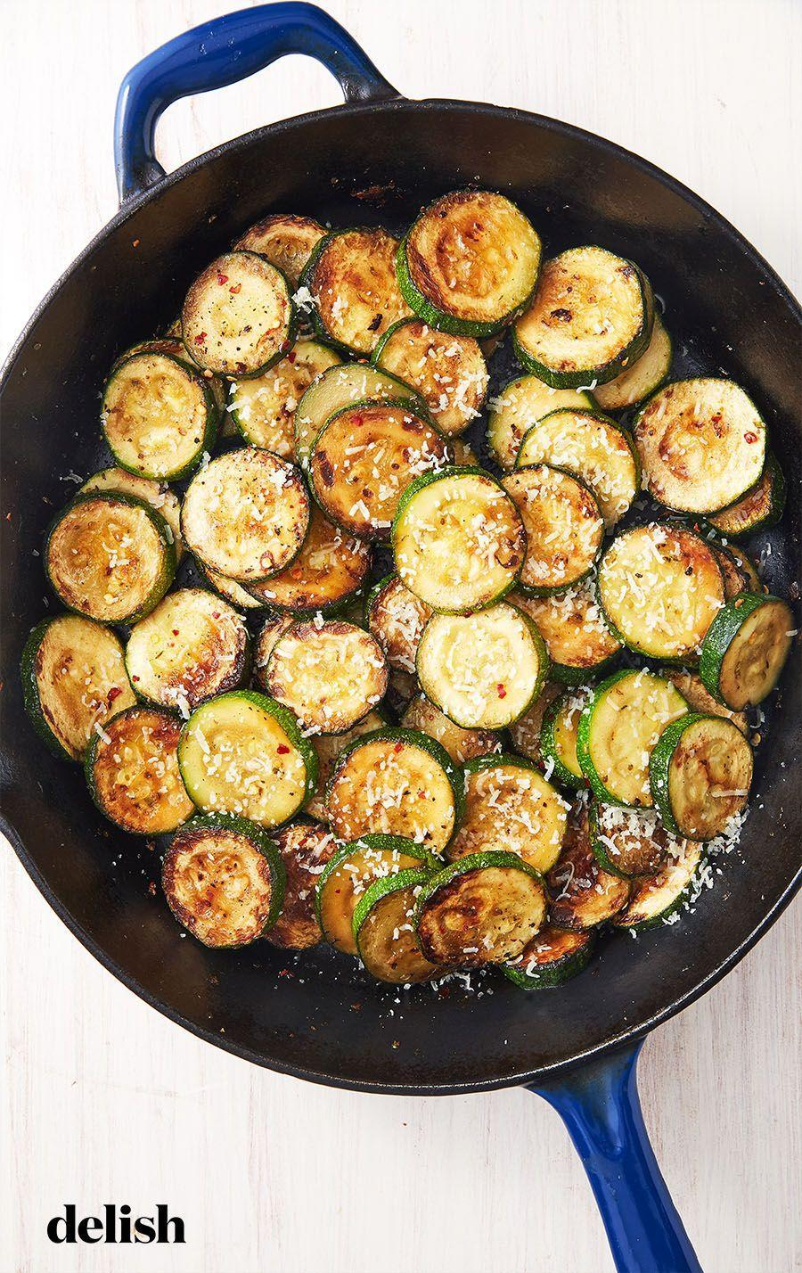 """<p>I'll eat anything doused in garlic and parmesan. </p><p>Get the recipe from <a href=""""https://www.delish.com/cooking/recipe-ideas/a28091519/sauteed-zucchini-recipe/"""" rel=""""nofollow noopener"""" target=""""_blank"""" data-ylk=""""slk:Delish"""" class=""""link rapid-noclick-resp"""">Delish</a>.</p>"""