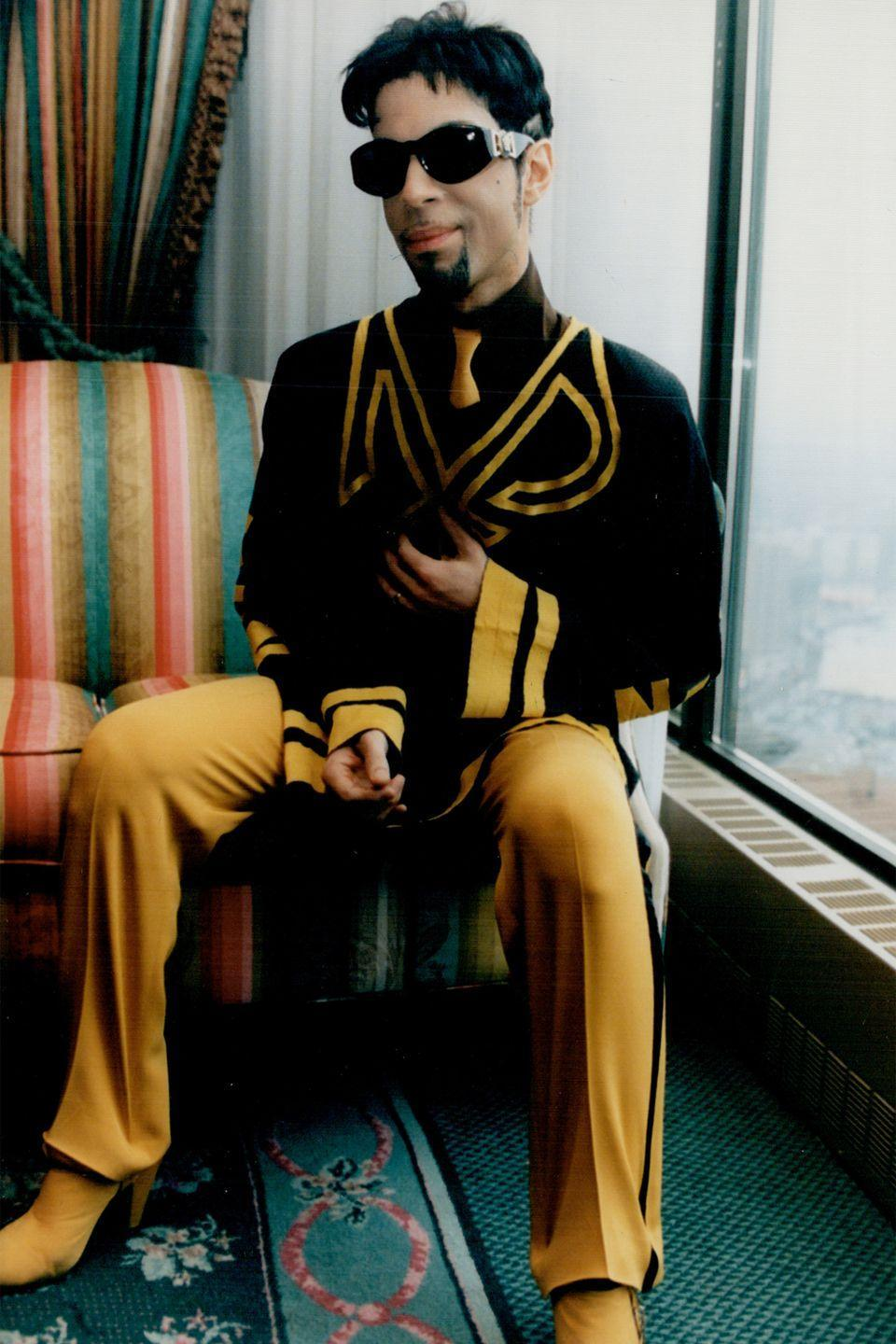 <p>Prince photographed in a hotel room in Toronto</p>