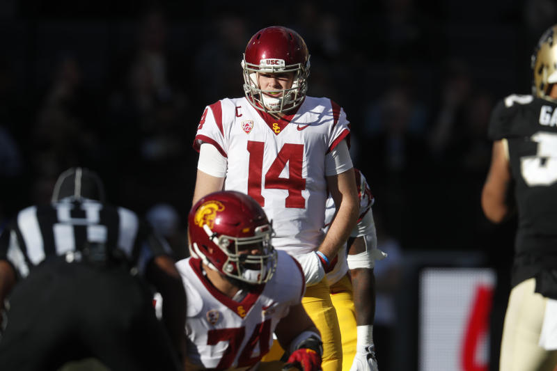 Sam Darnold removed any doubt that he'd stay in school for the 2018 season. (AP)