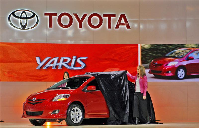 File photo of Toyota's 2007 Yaris S Sedan making its global debut at the Los Angeles Auto Show in California