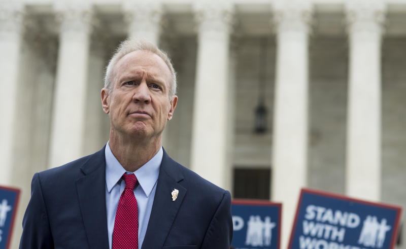 Ilinois Gov. Bruce Rauner lent his support to a case that eventually resulted in a U.S. Supreme Court undercutting unions nationwide. (Getty Editorial)