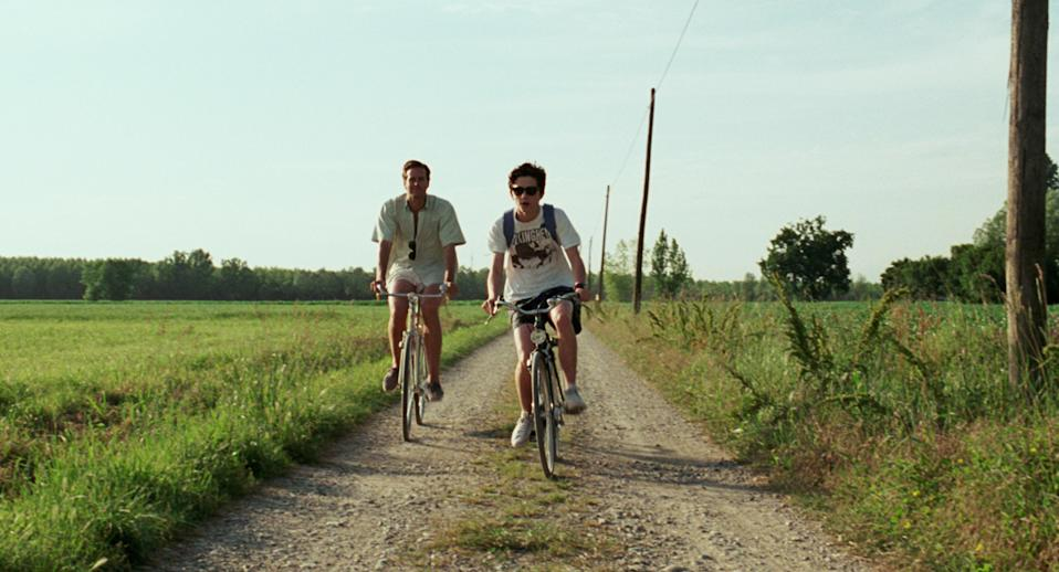 """<p>The setting in <em>Call Me By Your Name</em> is just as beautiful as the heartbreaking romance at the center of the movie—which is saying a lot. Timothée Chalamet and Armie Hammer are endlessly charming in this coming-of-age story set in the northern Italian countryside. </p> <p><em>Available to rent on</em> <a href=""""https://www.amazon.com/Call-Your-Name-Armie-Hammer/dp/B0791VJLVB"""" rel=""""nofollow noopener"""" target=""""_blank"""" data-ylk=""""slk:Amazon Prime Video."""" class=""""link rapid-noclick-resp""""><em>Amazon Prime Video.</em></a></p>"""