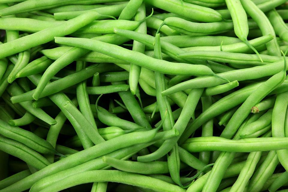 """<p><a href=""""https://www.goodhousekeeping.com/food-recipes/g4833/how-to-make-green-beans/"""" rel=""""nofollow noopener"""" target=""""_blank"""" data-ylk=""""slk:Green beans"""" class=""""link rapid-noclick-resp"""">Green beans</a> are a good source of vitamin A, vitamin C, vitamin K, and fiber. Buy 'em raw or canned for sides and salads. </p>"""