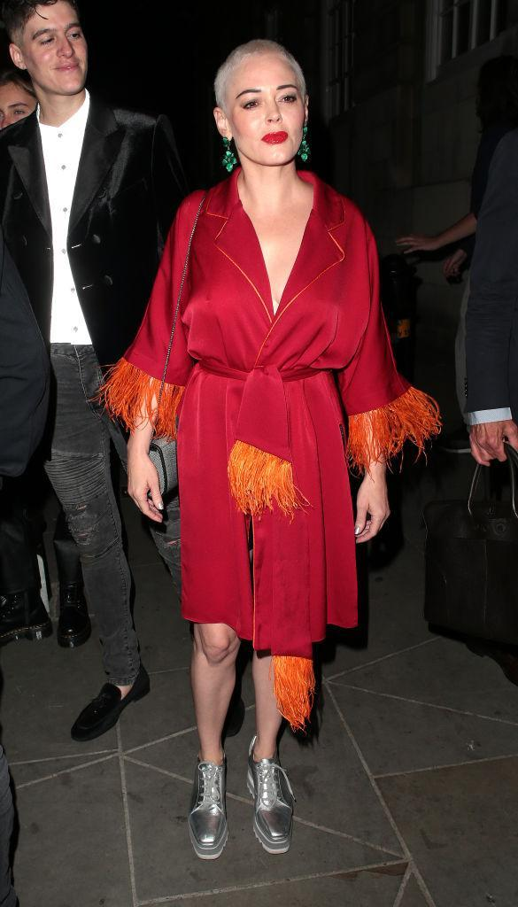 <p>In case you needed further proof that Rose McGowan is this season's most sought after celebrity attendee, the actress attended the LOVE magazine party on September 17. <em>[Photo: Getty]</em> </p>
