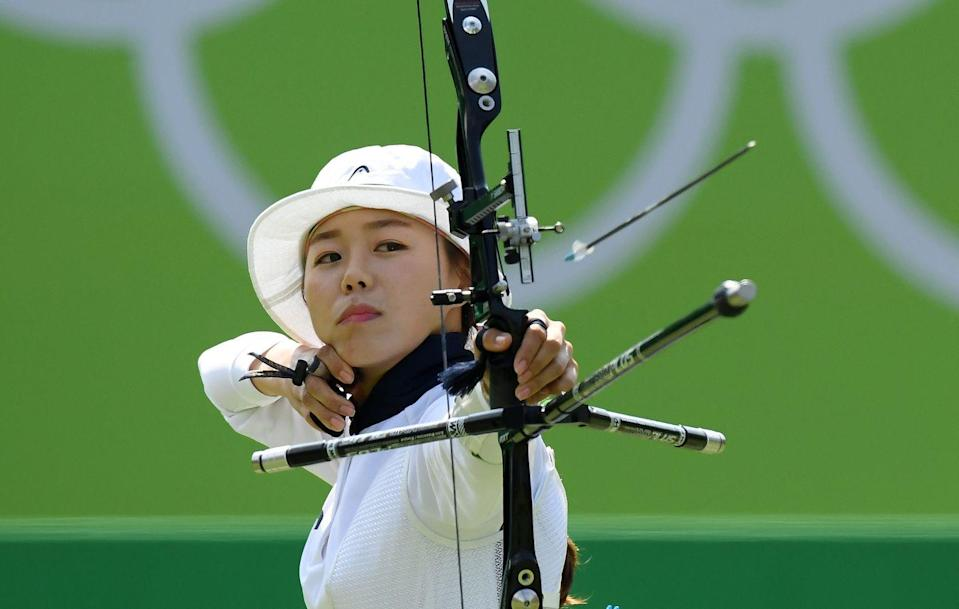 """<p>Per <a href=""""https://worldarchery.sport/rulebook"""" rel=""""nofollow noopener"""" target=""""_blank"""" data-ylk=""""slk:the rulebook"""" class=""""link rapid-noclick-resp"""">the rulebook</a>, Olympic archers only get 40 seconds between shots — no pressure, right? It's not like there's anything on the line...just an Olympic medal. </p>"""