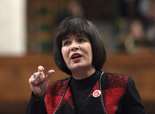 Minister of Health Ginette Petitpas Taylor rises during Question Period in the House of Commons on Parliament Hill in Ottawa on March 1, 2018.