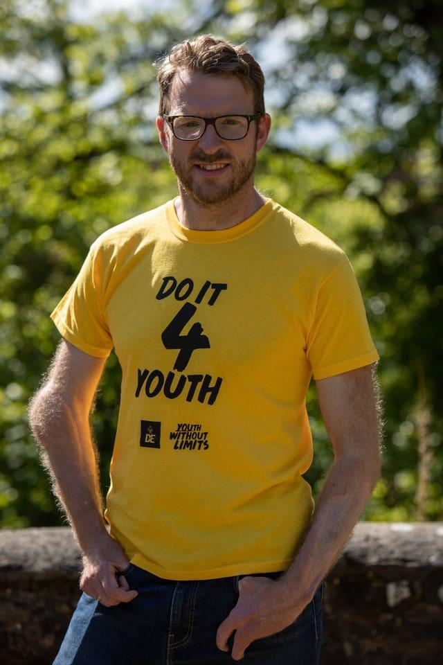 Strictly star and former Royal Marine JJ Chalmers who is taking part in the Do It 4 Youth event