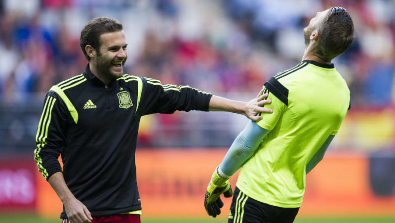 PHOTO: Man Utd Keeper David de Gea Launches Subtle Dig at Chelsea While Wishing Mata Happy Birthday