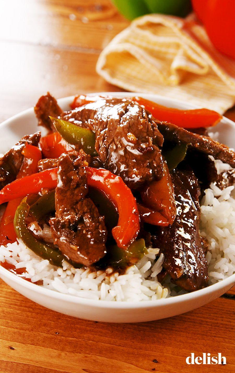 """<p>Skip the takeout on v-day.</p><p>Get the recipe from <a href=""""https://www.delish.com/cooking/recipe-ideas/a25658914/pepper-steak-recipe/"""" rel=""""nofollow noopener"""" target=""""_blank"""" data-ylk=""""slk:Delish"""" class=""""link rapid-noclick-resp"""">Delish</a>.</p>"""