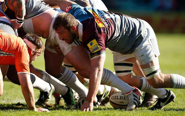 <span>Chris Robshaw drives Harlequins forward</span> <span>Credit: PA </span>