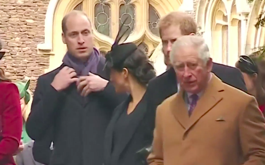Meghan appeared to try and talk to William on Christmas. Photo: Reuters