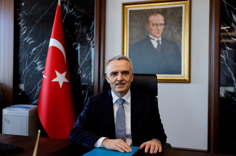 FILE PHOTO: Interview with Turkey's Central Bank Governor Naci Agbal in Istanbul