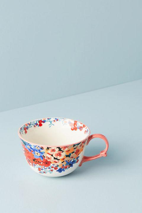 """<p>A good book requires a cup of tea.</p><p><a rel=""""nofollow"""" href=""""https://www.anthropologie.com/shop/liberty-for-anthropologie-wiltshire-garden-teacup"""">BUY NOW</a>: $14<span></span></p>"""