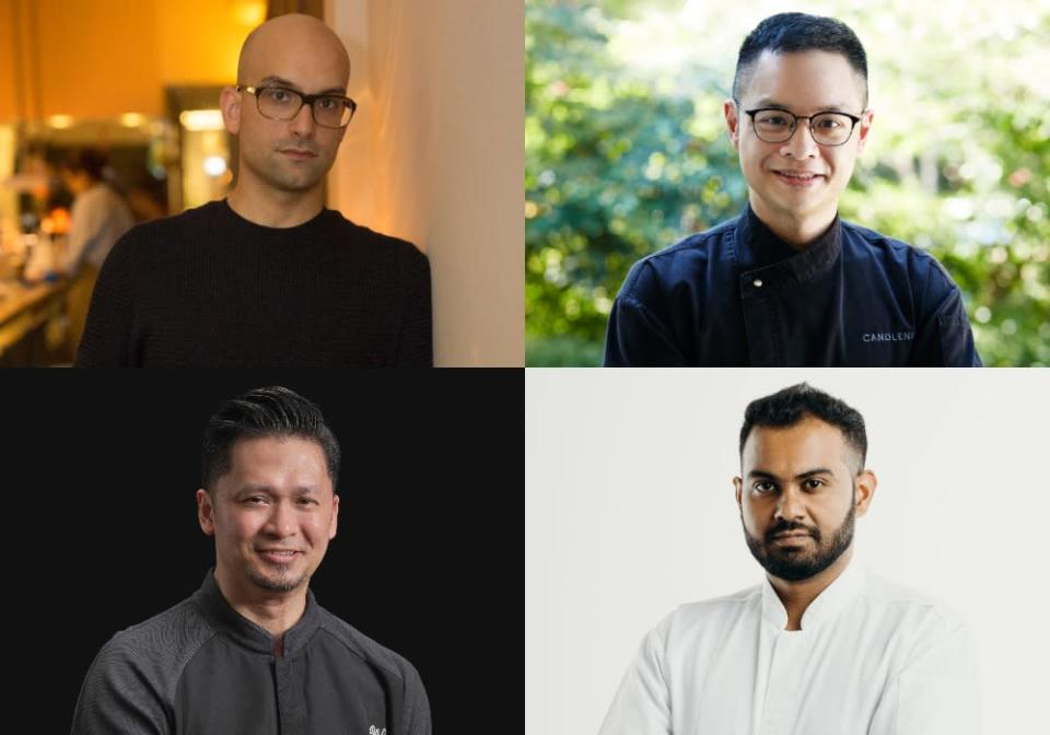 Collage of some 1 MICHELIN star recipients